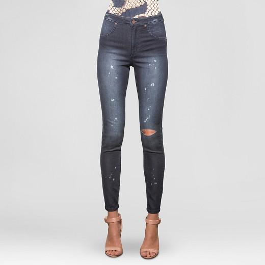 s&p by standards & practices® Women's High Waist Crop Skinny Jean ...