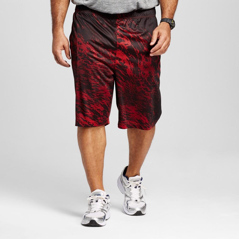Mens Big & Tall Circuit Training Shorts - C9 Champion - Scarlet Red 3XB