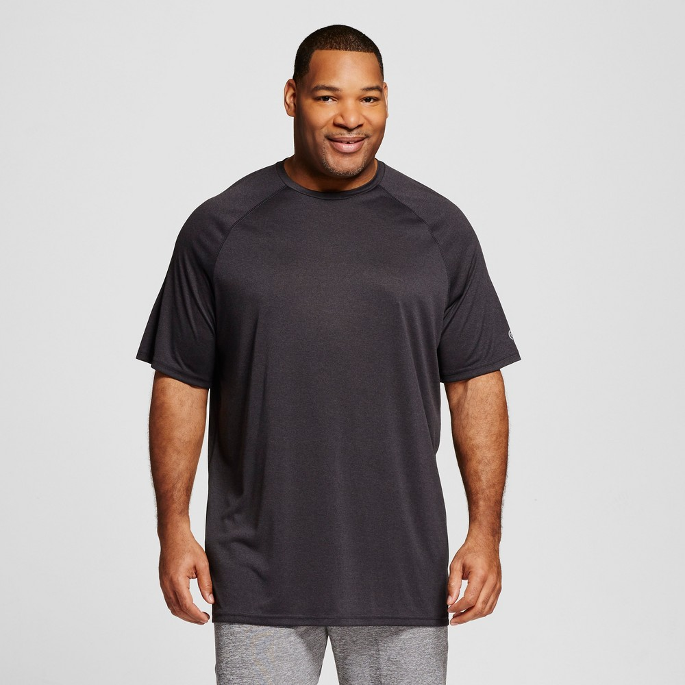 Mens Big & Tall Tech T-Shirt - C9 Champion Onyx Heather 2XB