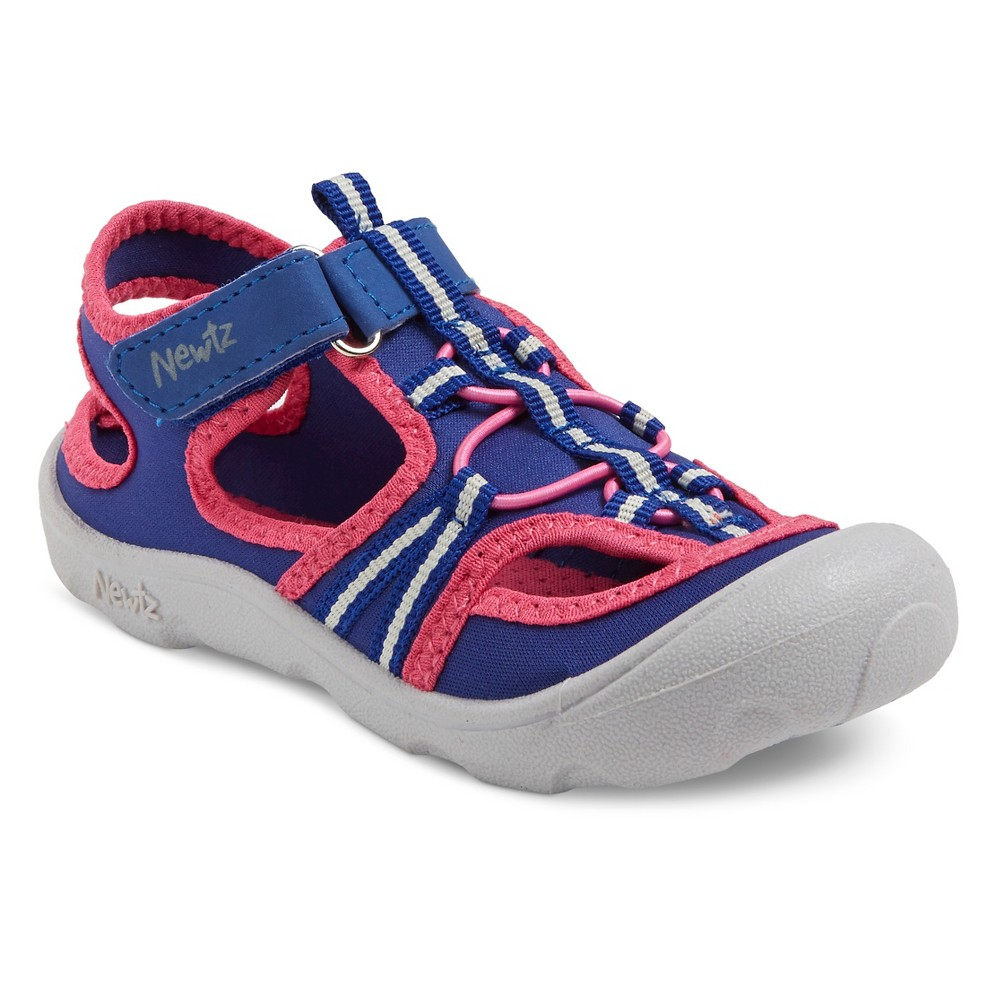 Toddler Girls Newtz Parker Open Water Shoes - Indigo (Blue)/Pink 9-10