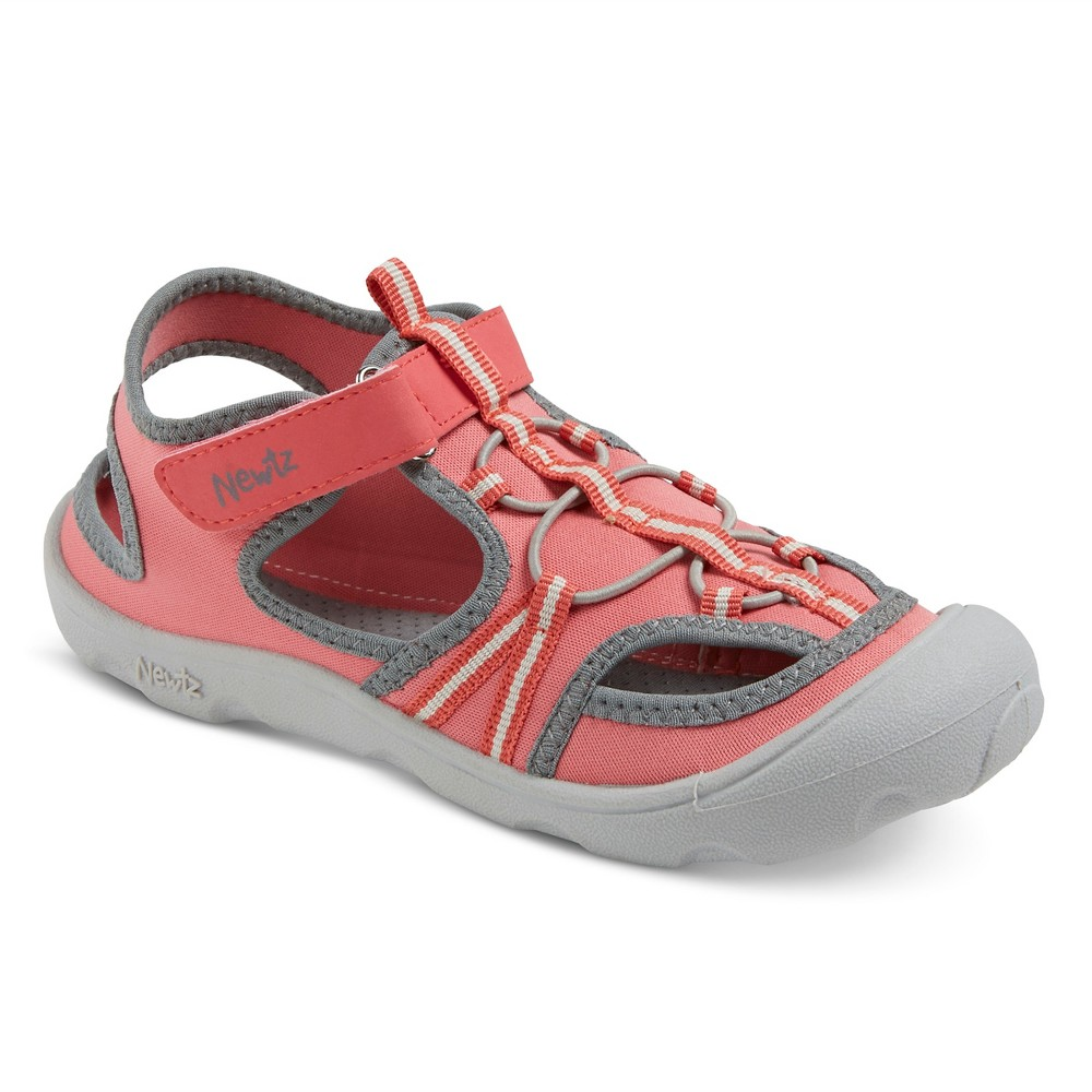 Girls Newtz Open Water Shoes - Coral (Pink)/Grey 2-3