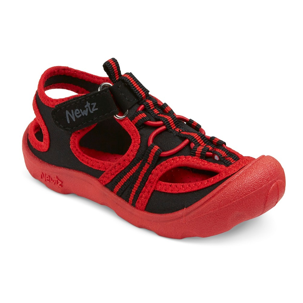 Toddler Boys Newtz Hugh Open Water Shoes - Black/Red 13-1