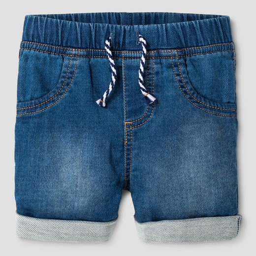 Baby Boys' Cuffed Denim Jean Shorts - Cat & Jack™ Medium Wash : Target