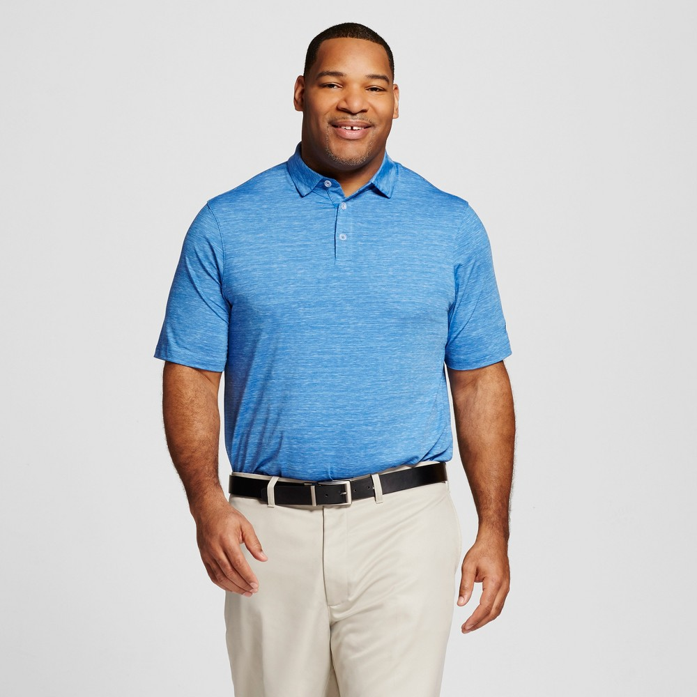 Mens Big & Tall Spacedye Golf Polo - C9 Champion Sky Blue 4XB