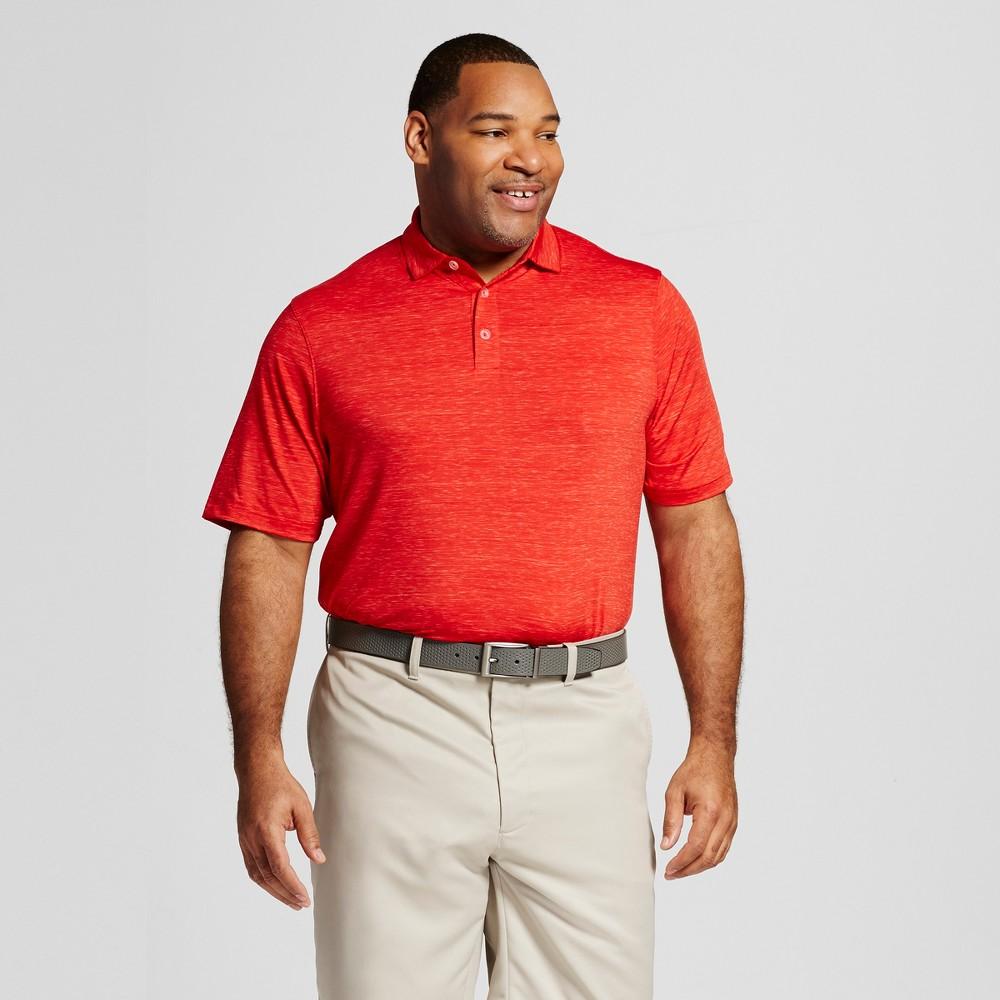 Mens Big & Tall Spacedye Golf Polo - C9 Champion Scarlet (Red) 4XB