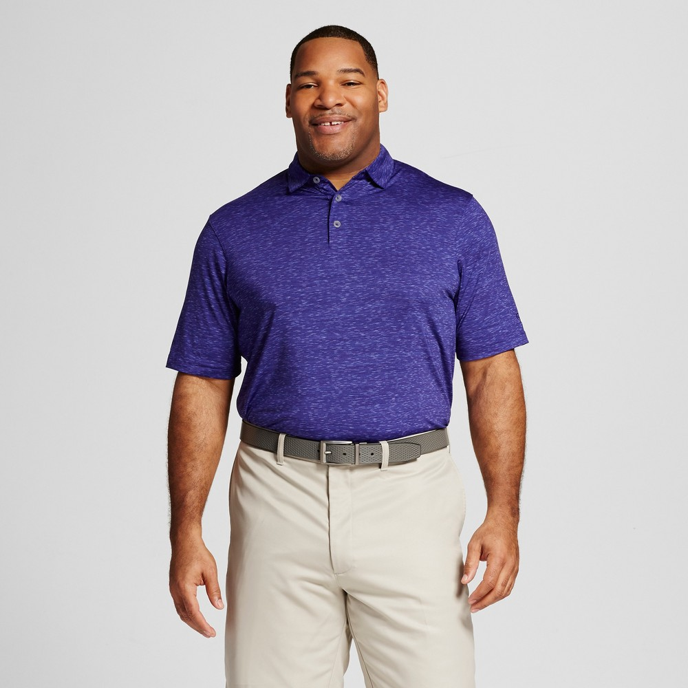 Mens Big & Tall Spacedye Golf Polo - C9 Champion Violet (Purple) 5XB