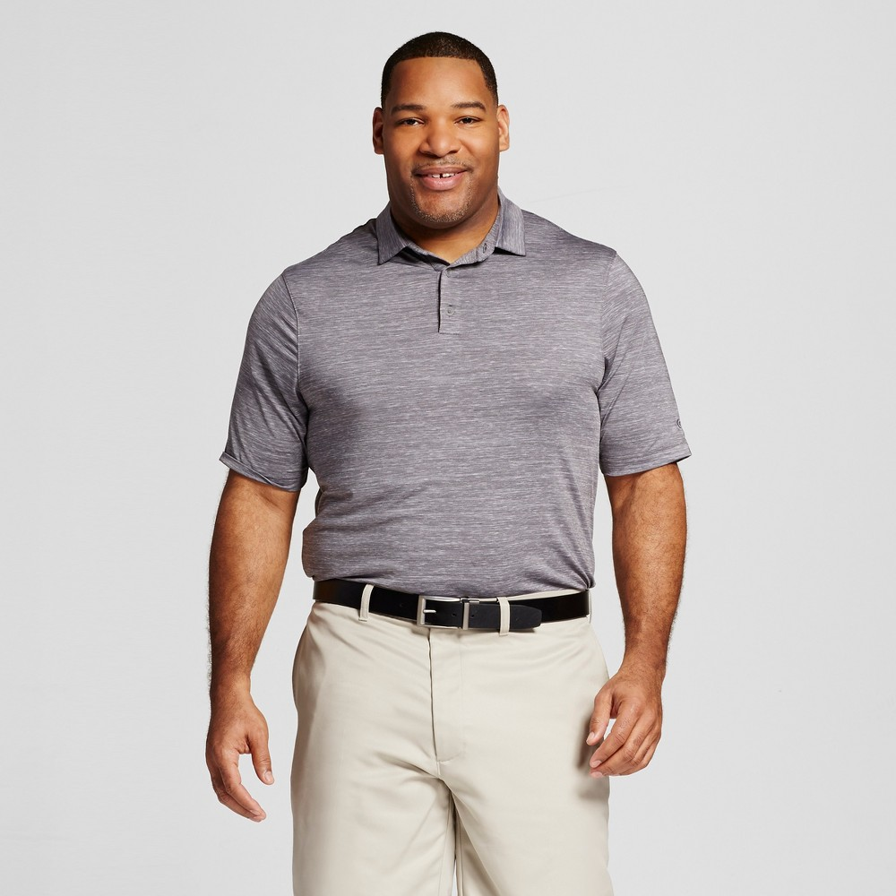 Mens Big & Tall Spacedye Golf Polo - C9 Champion Thundering Gray 3XB