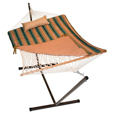 algoma cotton rope hammock and stand set  rest stripe algoma cotton rope hammock and stand set  rest stripe   target  rh   target