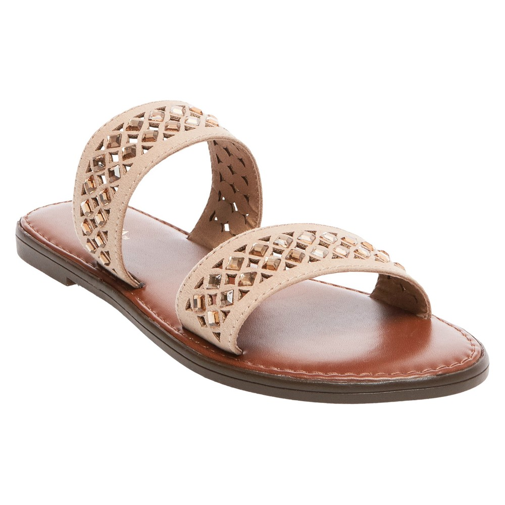 Womens Mina Slide Sandals - Merona Light Taupe 5.5