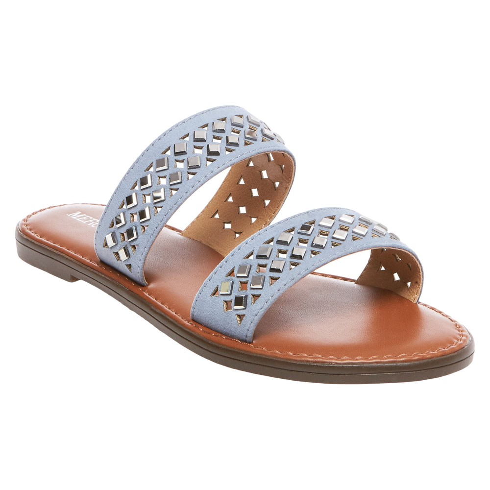Women's Mina Slide Sandals - Merona Blue 5.5