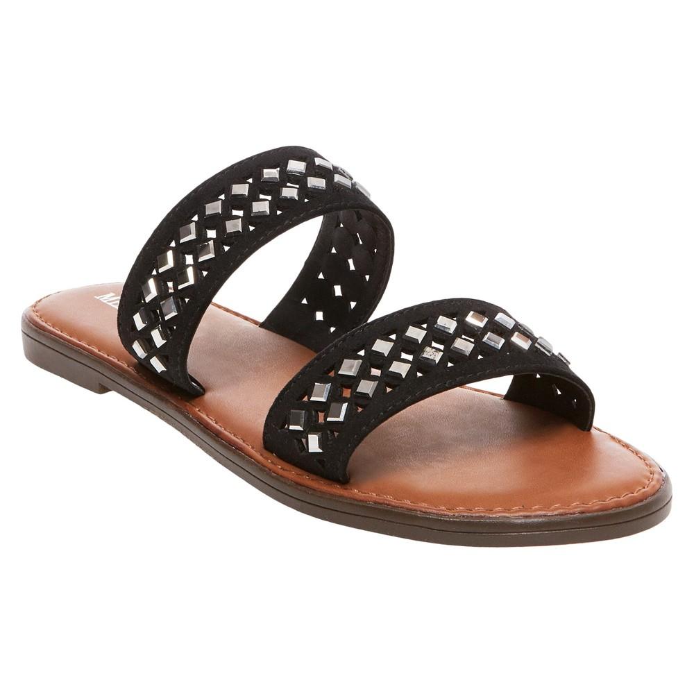 Womens Mina Slide Sandals - Merona Black 8