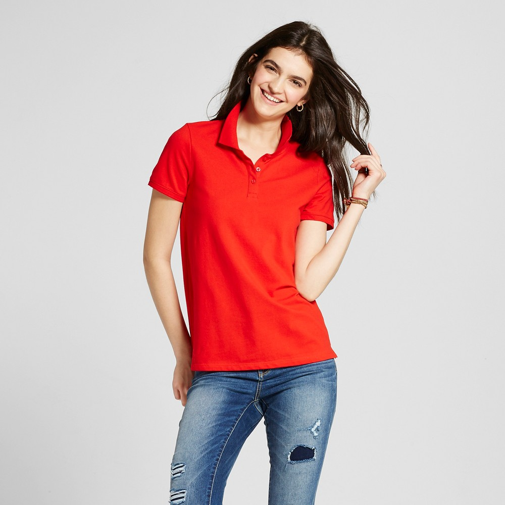 Womens Polo Shirt - Mossimo Supply Co. Red XS