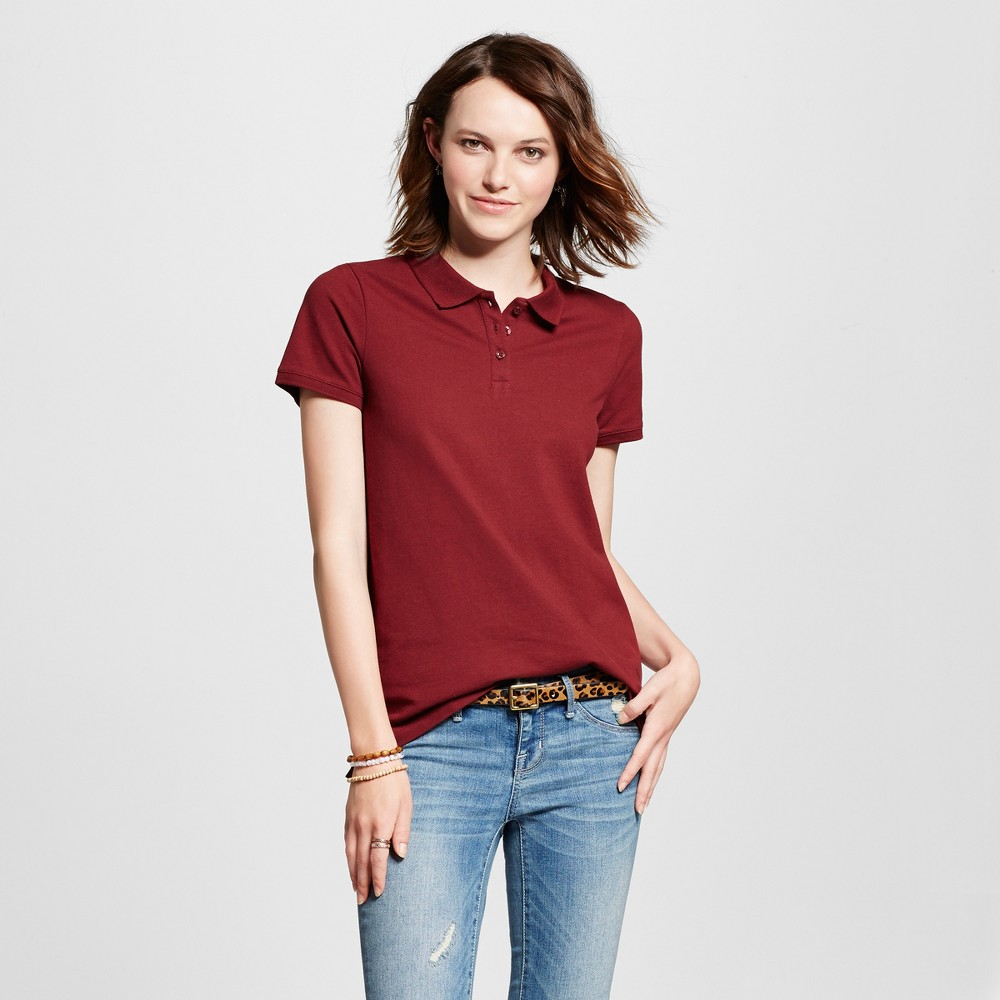 Womens Polo Shirt - Mossimo Supply Co. Burgundy (Red) S