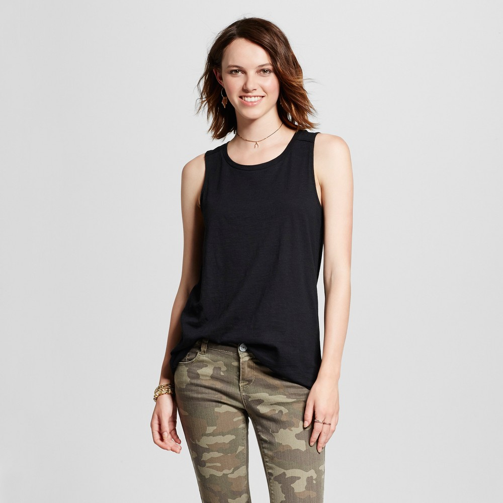 Women's Muscle Tank Top - Mossimo Supply Co. Black S