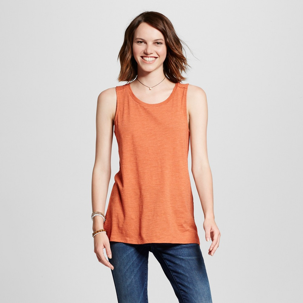 Womens Muscle Tank Top - Mossimo Supply Co. Orange M