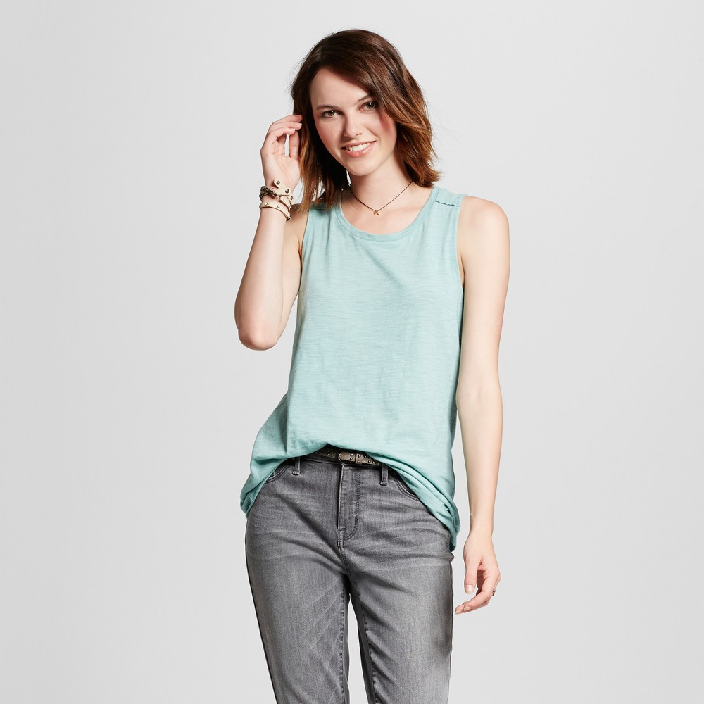 Women's Muscle Tank Top - Mossimo Supply Co. Teal (Blue) M