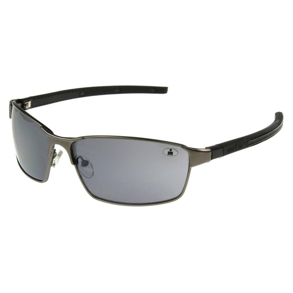 Mens Ironman Full Frame Scratch and Impact Resistant Metal Performance Sunglasses - Dark Gun Metal, Black