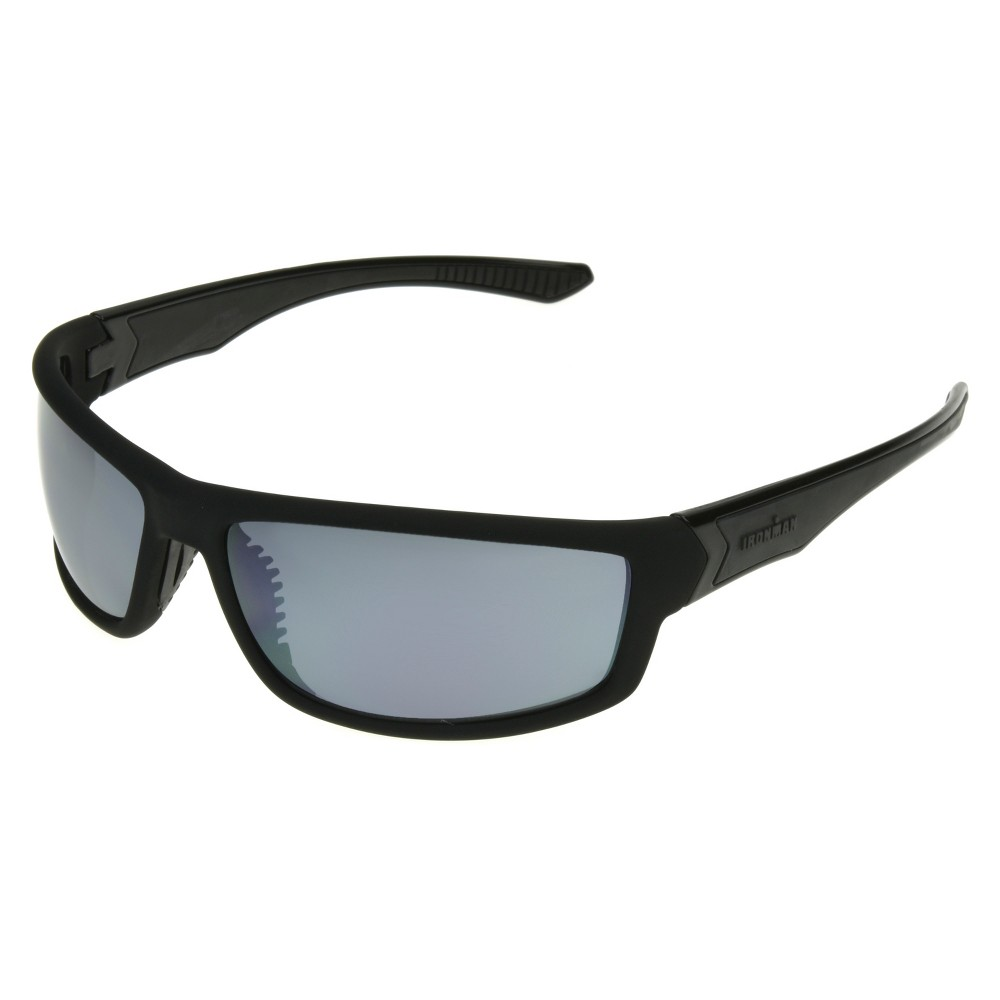 Mens Ironman Full Frame Scratch and Impact Resistant Performance Sunglasses - Black