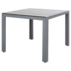 Gallant Square Outdoor Dining Table - Sun Bleached Gray - CorLiving