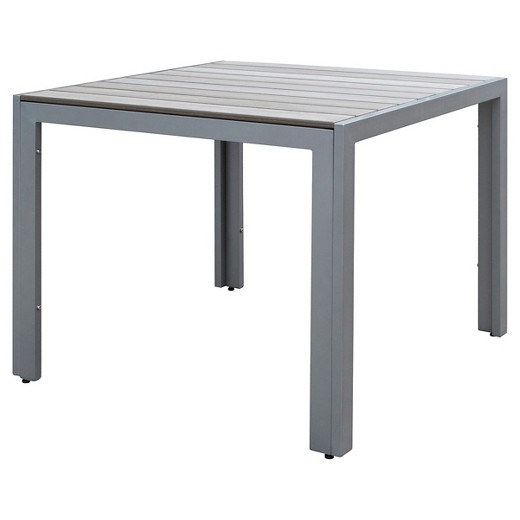 Gallant Square Outdoor Dining Table Sun Bleached Gray