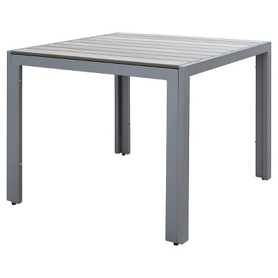 Gallant Square Outdoor Dining Table   Sun Bleached Gray   CorLiving