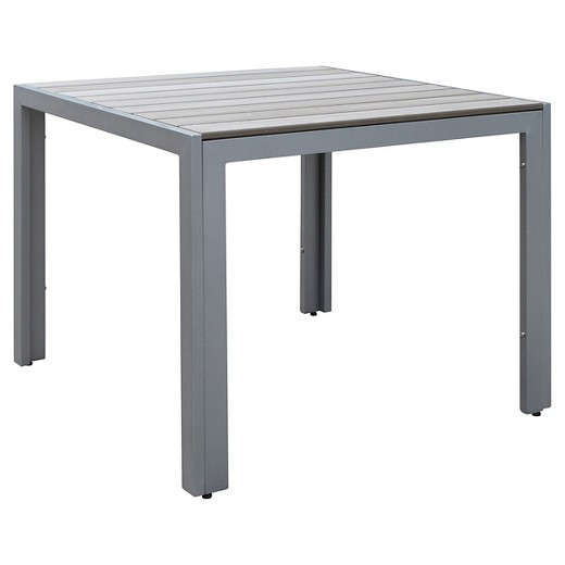 Gallant Square Outdoor Dining Table - Sun Bleached Gray ...