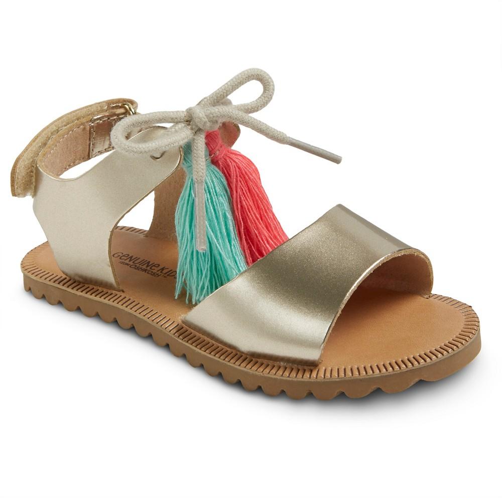Toddler Girls Carmela Slide Sandals Genuine Kids - Gold 9