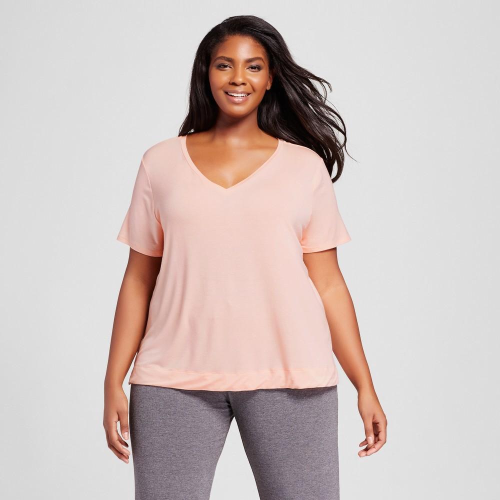 Womens Plus Size Sleep T-Shirt - Peach Divine 3X