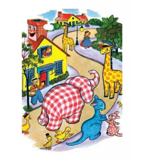 Happy Animals Village Encouragement Greeting Cards (Stationery) - image 1 of 1
