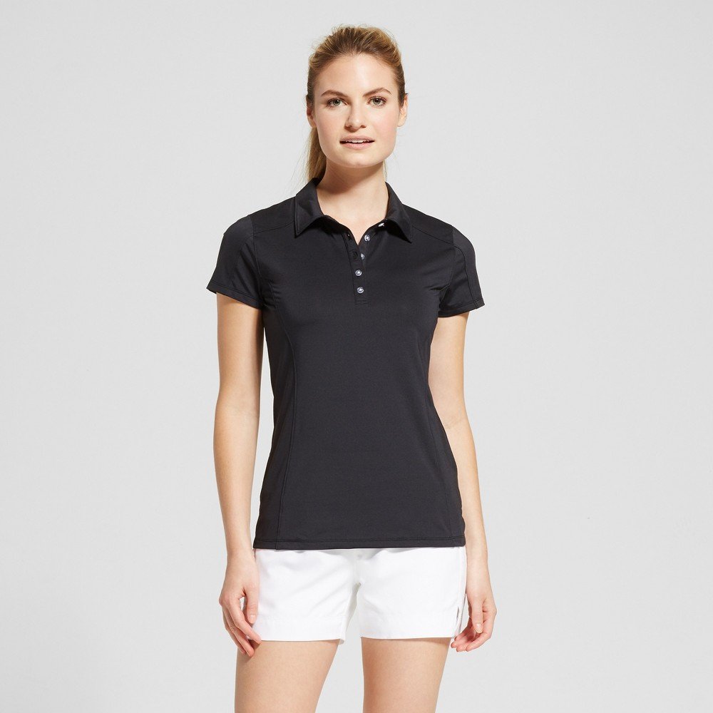Womens Button Up Golf Polo Shirt - C9 Champion - Black S