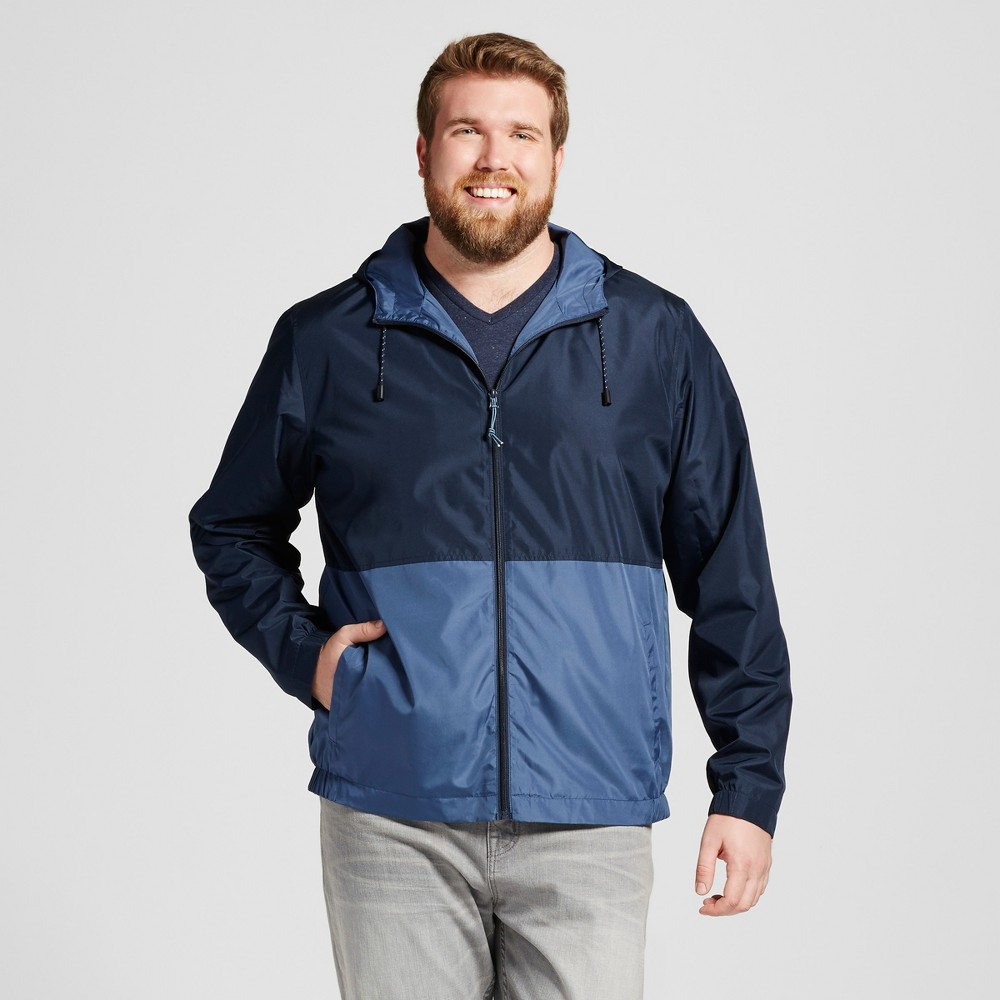 Mens Big & Tall Colorblock Windbreaker - Mossimo Supply Co. Navy (Blue) 3XB Tall, Size: 3XBT