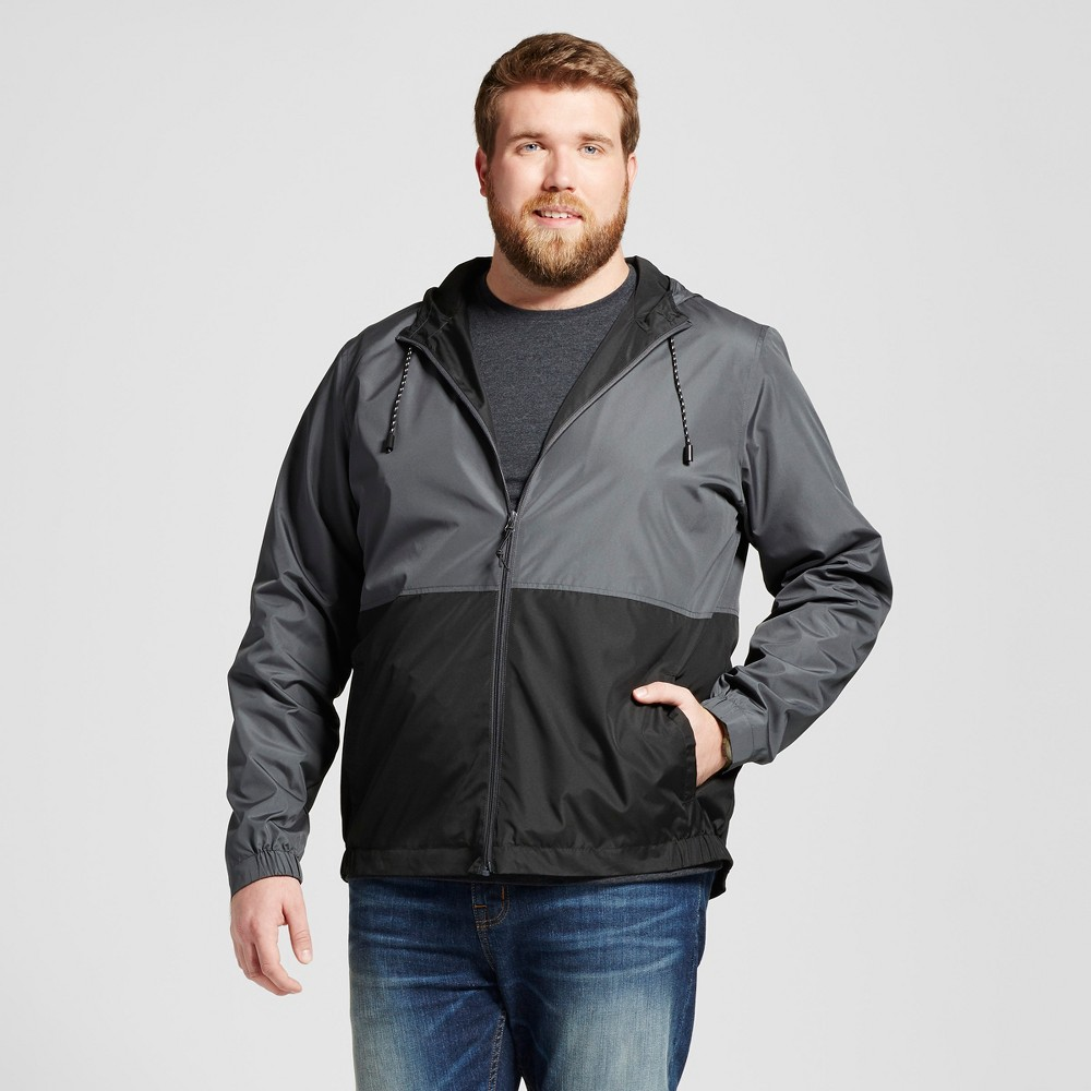 Mens Big & Tall Colorblock Windbreaker - Mossimo Supply Co. Gray 2XB Tall, Size: 2XBT