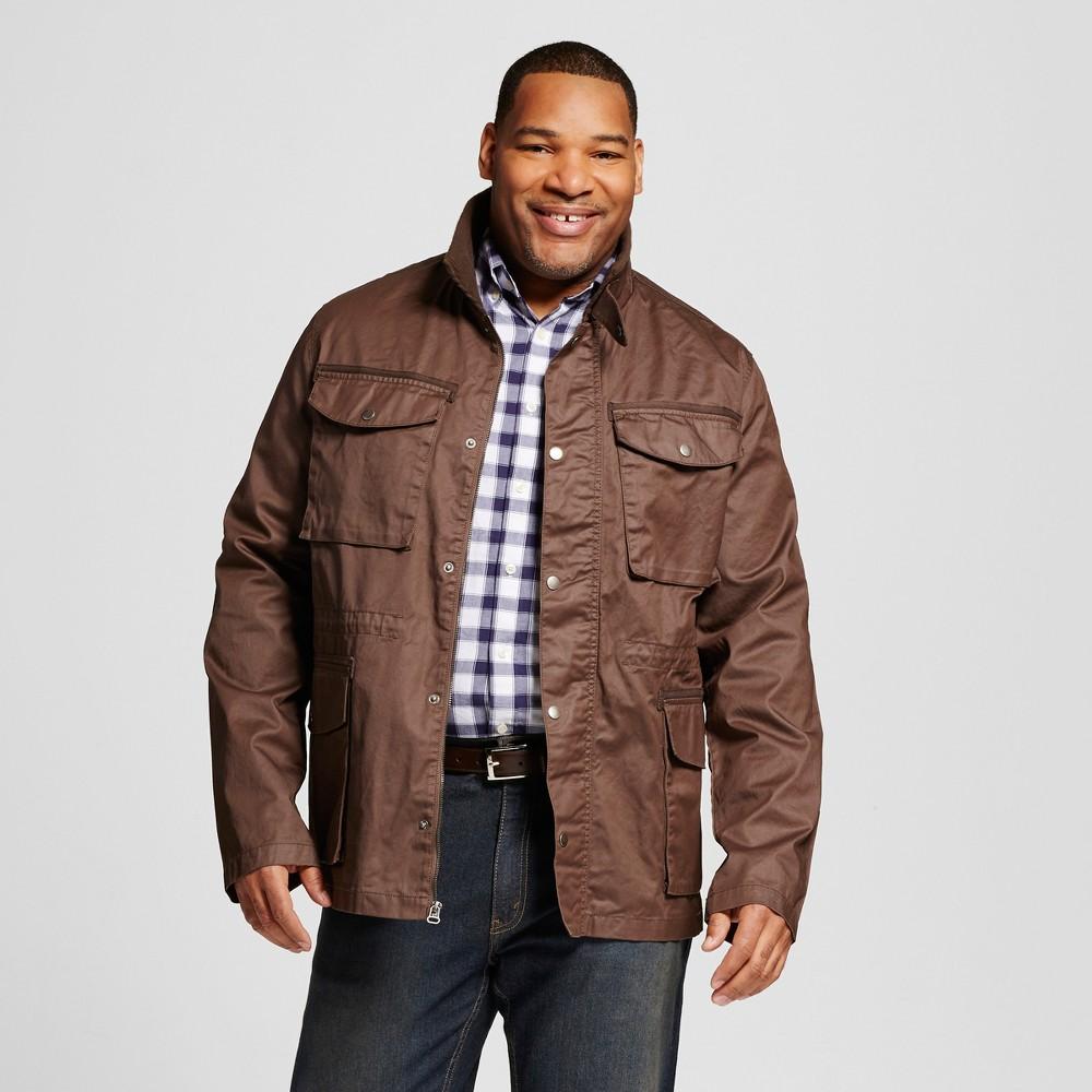 Mens Big & Tall Field Jacket Brown - Merona 3XB Tall, Size: 3XBT