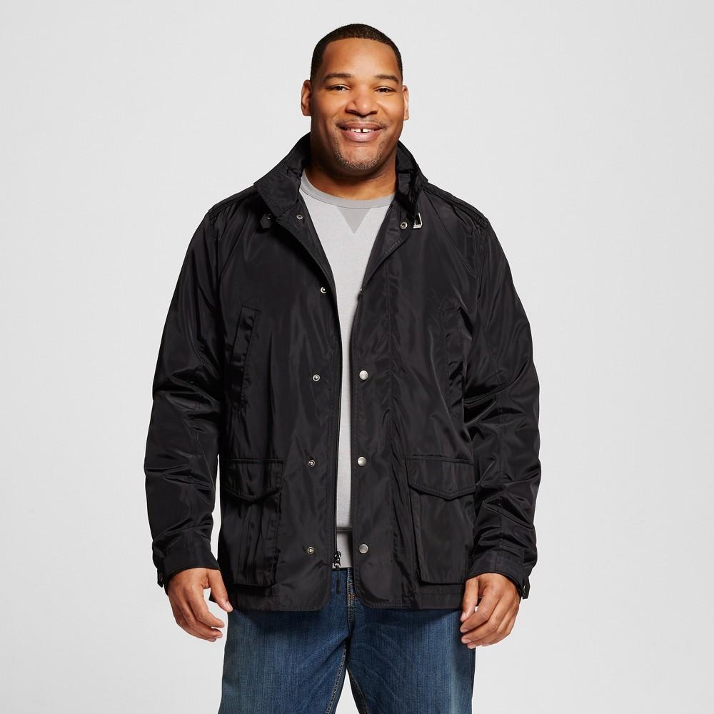 Mens Big & Tall Nylon Field Jacket - Merona Black LT