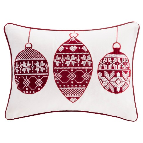 "Holiday Velvet Ornament Throw Pillow (14""x20"") - image 1 of 1"