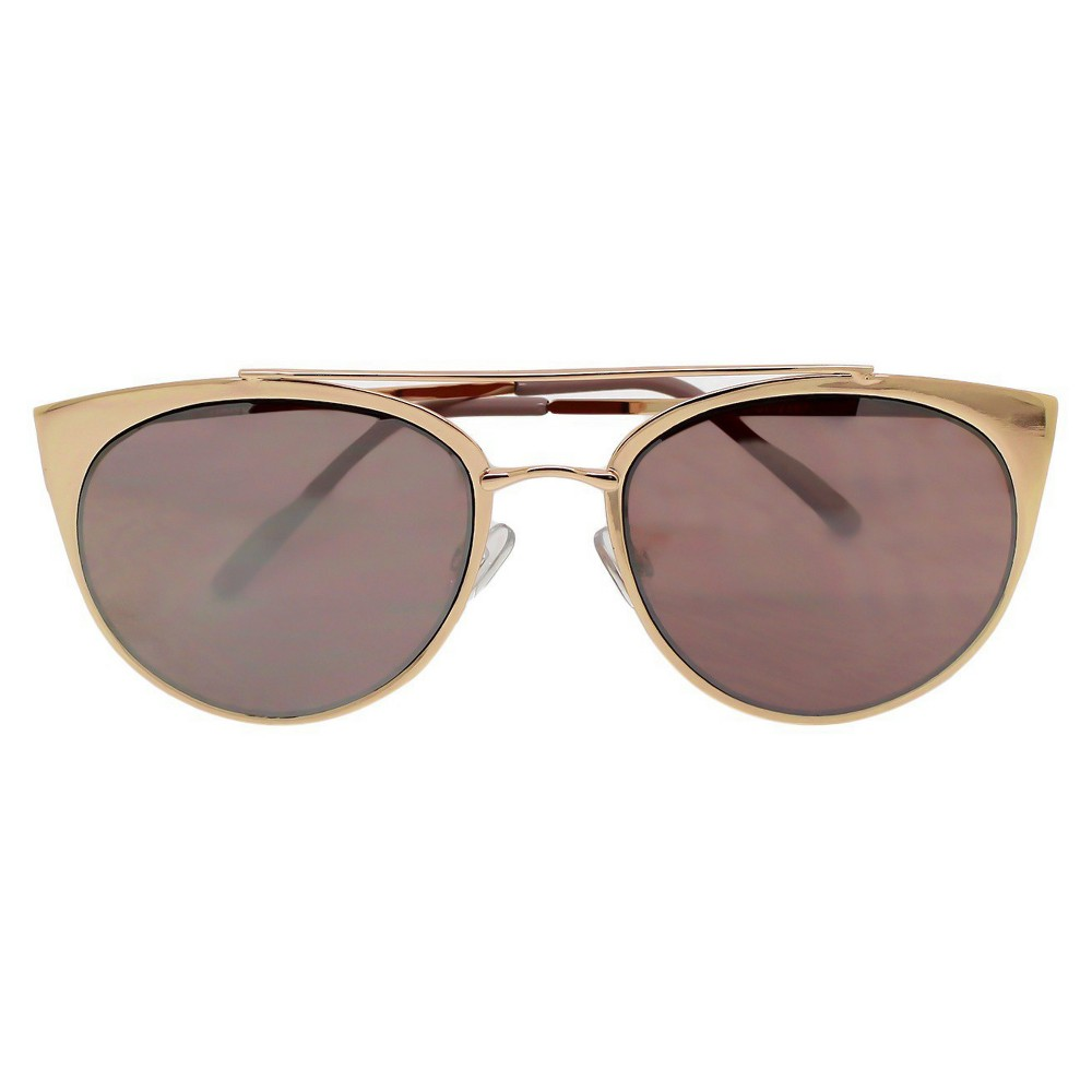 Womens Aviator Sunglasses - Rosegold Mirror, Rose Gold