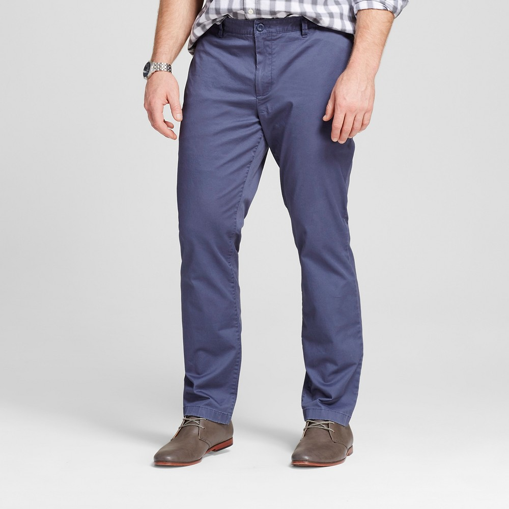 Mens Big & Tall Chino Pants - Merona Blue 58x32