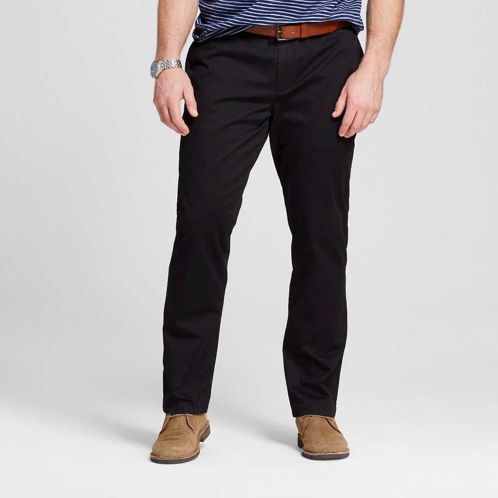 Mens Big & Tall Chino Pants - Merona Black 58x32