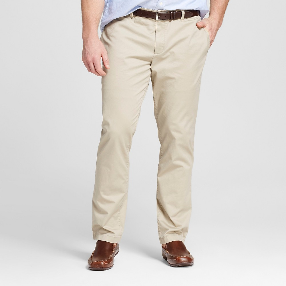 Mens Big & Tall Chino Pants - Merona Khaki (Green) 56x32
