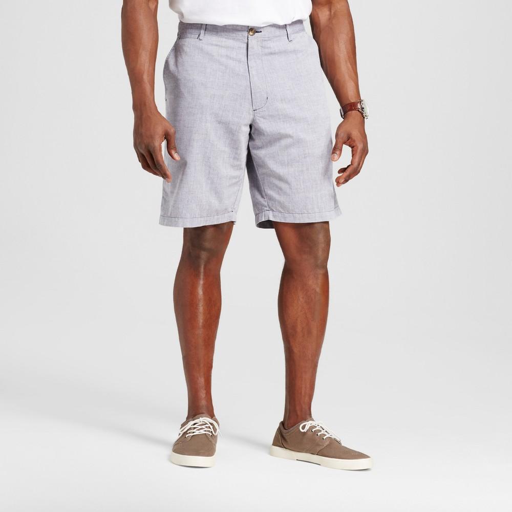 Mens Big & Tall Club Shorts - Merona Blue Chambray 60