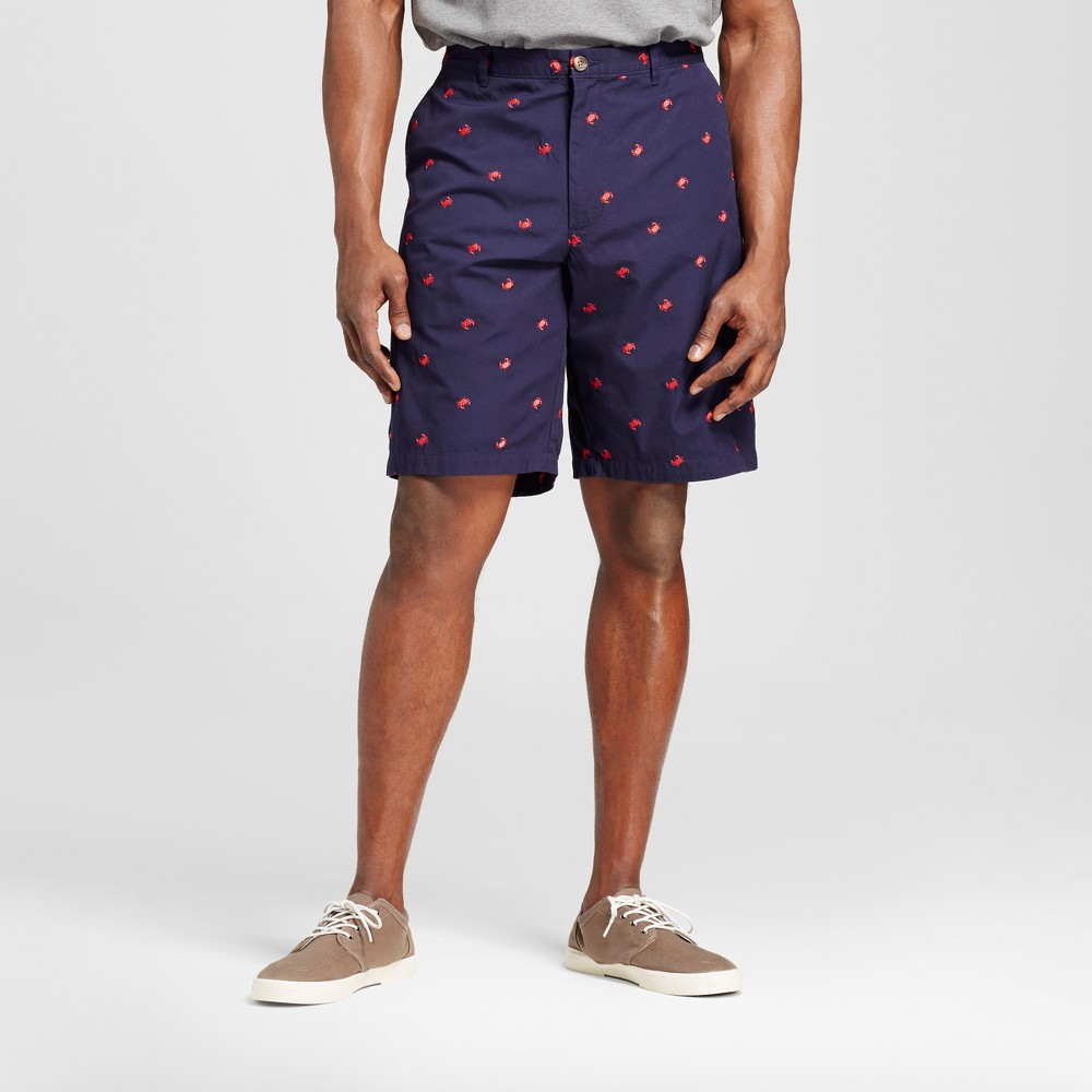 Mens Big & Tall Club Shorts - Merona Navy/ Red Crabs Print 60, Blue