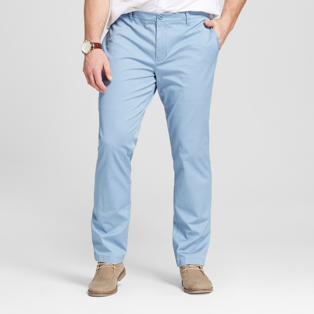 Mens Big & Tall Chino Pants - Merona Light Blue 44x36
