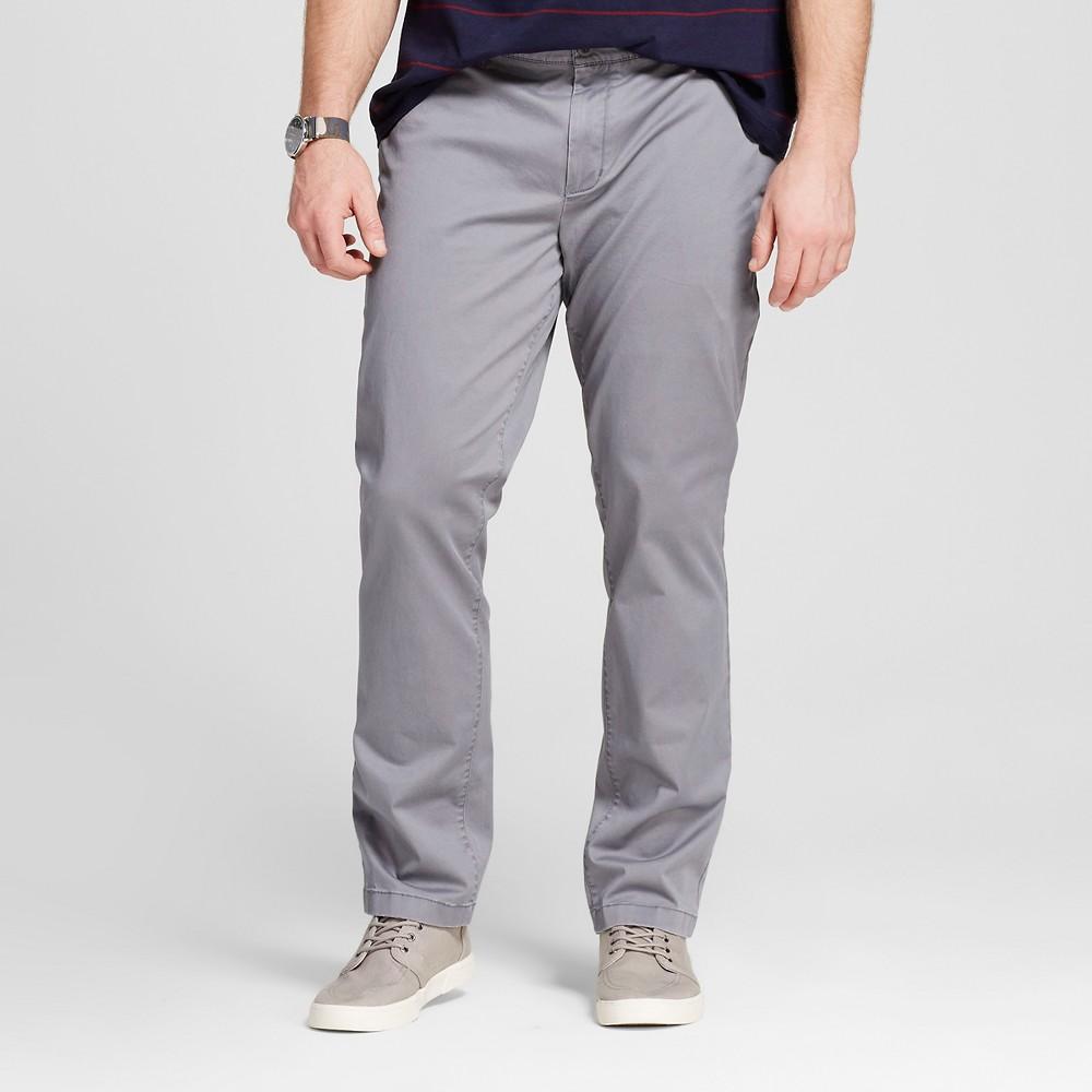 Mens Big & Tall Chino Pants - Merona Gray 44x36