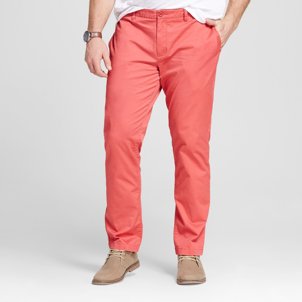 Mens Big & Tall & Tall Chino Pants - Merona Red 31x36