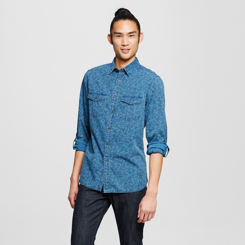 Mens Long Sleeve Shirt - Mossimo Supply Co. Blue L