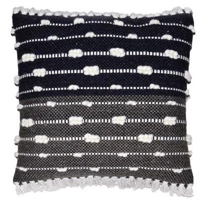 Black/White Striped Wool Throw Pillow - Threshold™
