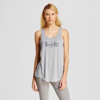 Love and Cherish Women's Bride Pajama Tank - Heather Gray XS