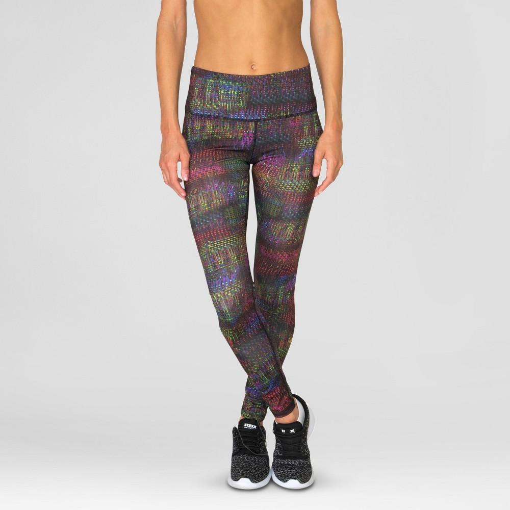 Women's Pixel Print Leggings M - Rbx, Multicolored