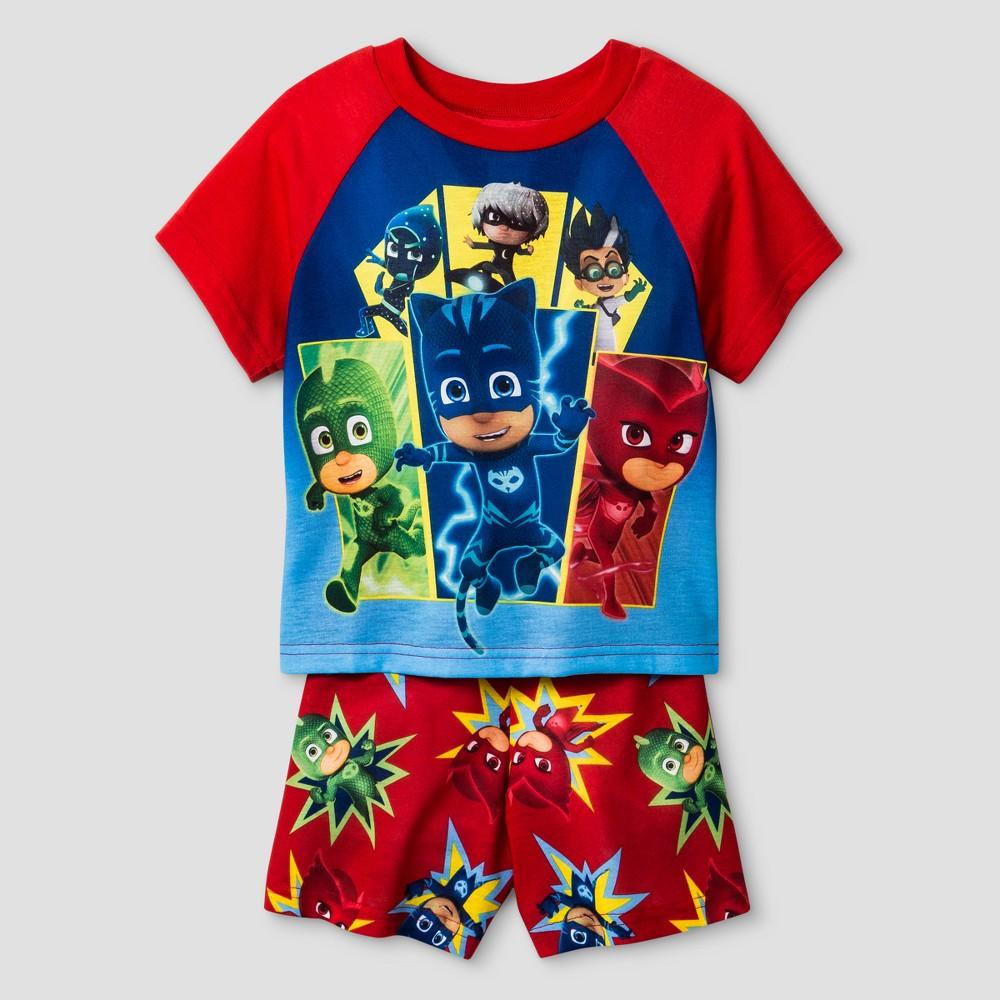 Toddler Boys PJ Masks 2pc Pajama Set - Red 2T