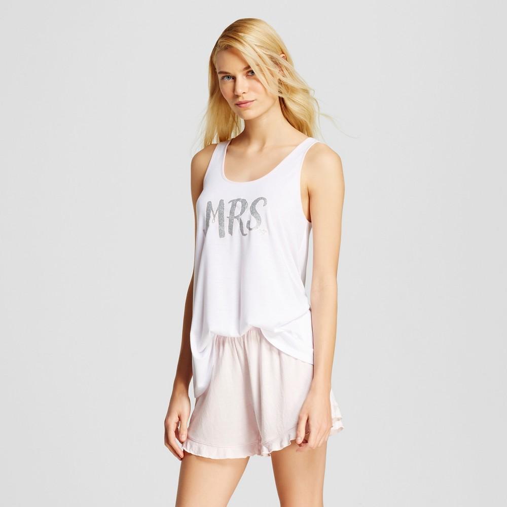 Love and Cherish Women's Mrs. Tank Pajama Set – White L